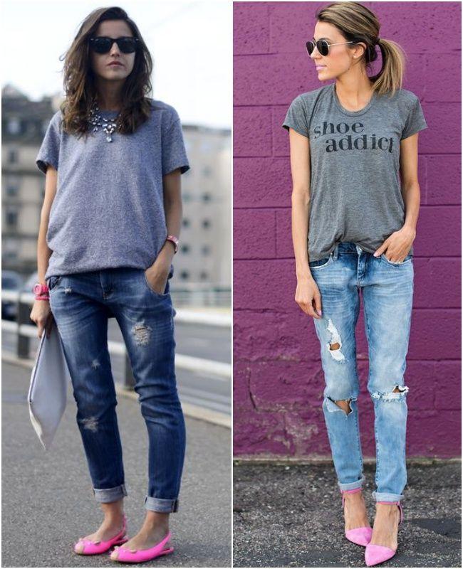 e08d09708 Tem Jeito? Sapatilha Rosa! | Fashion | Look com sapatilha, Looks com ...