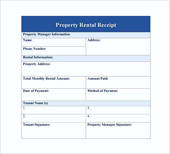 Property rent Receipt PDF Free , Rent Invoice Template , Knowing - free rental receipt template