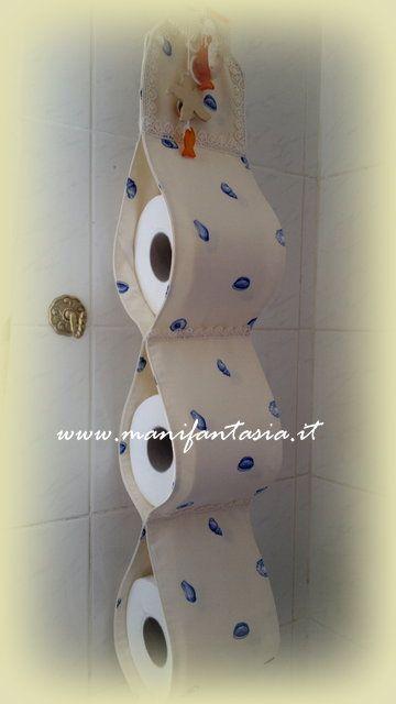 come fare un portarotoli da bagno con scampoli di tessuto e decorazioni a piacere il