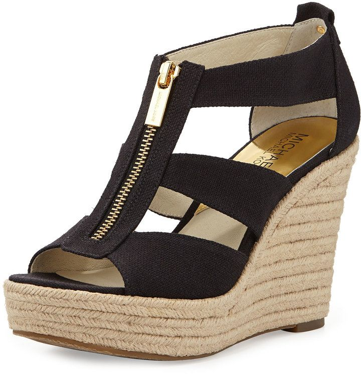 3898070d2 MICHAEL Michael Kors Damita Canvas Wedge on shopstyle.com | Shoes ...