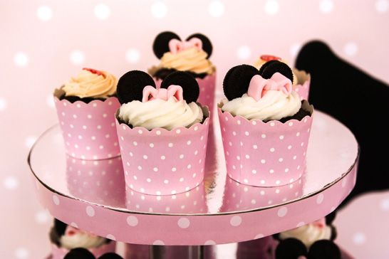 Alex's Minnie Mouse 1st Birthday - minnie mouse cupcakes