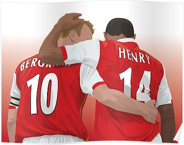 Thierry Henry Ian Wright Dennis Bergkamp Poster