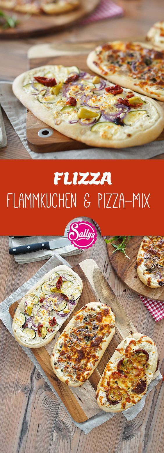 From pizza dough you can easily conjure this FLIZZA – that's what I call the mix of pizza and tarte flambée;)       -