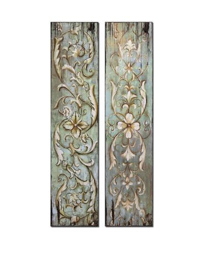 French Country Wall Art french country s 2 ancathus wood panels wall art antiqued