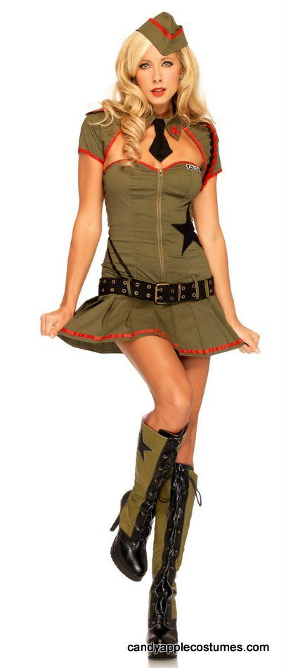 bdc2d21c48c Leg Avenue Private Pin Up Costume - Candy Apple Costumes - Browse ...