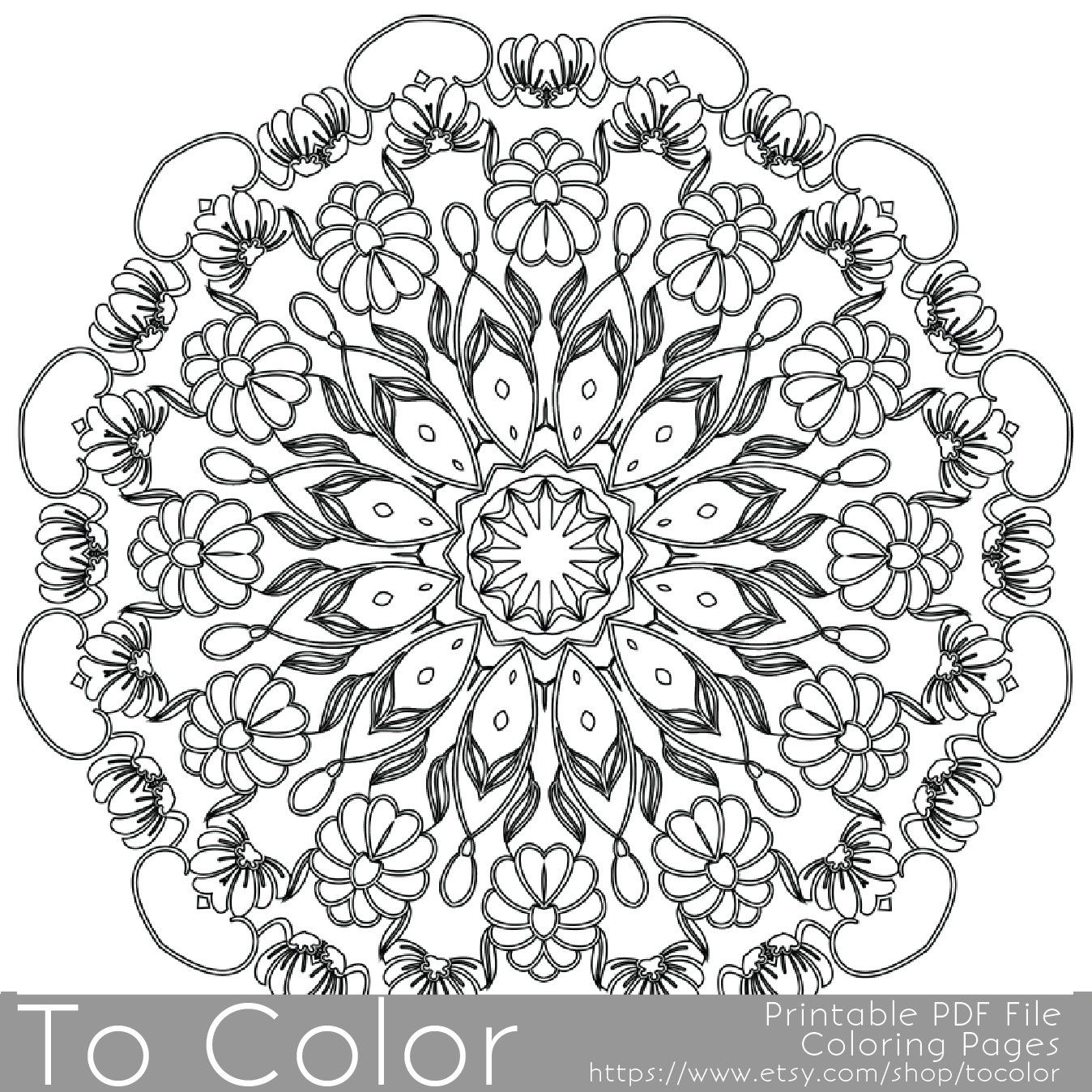 Intricate Printable Coloring Pages For Adults Gel Pens Mandala