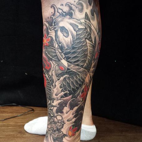 tattoo gallery tattoos body part leg sleeve koi fish tattoo