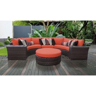 Surprising Kathy Ireland River Brook 6 Piece Outdoor Wicker Patio Lamtechconsult Wood Chair Design Ideas Lamtechconsultcom