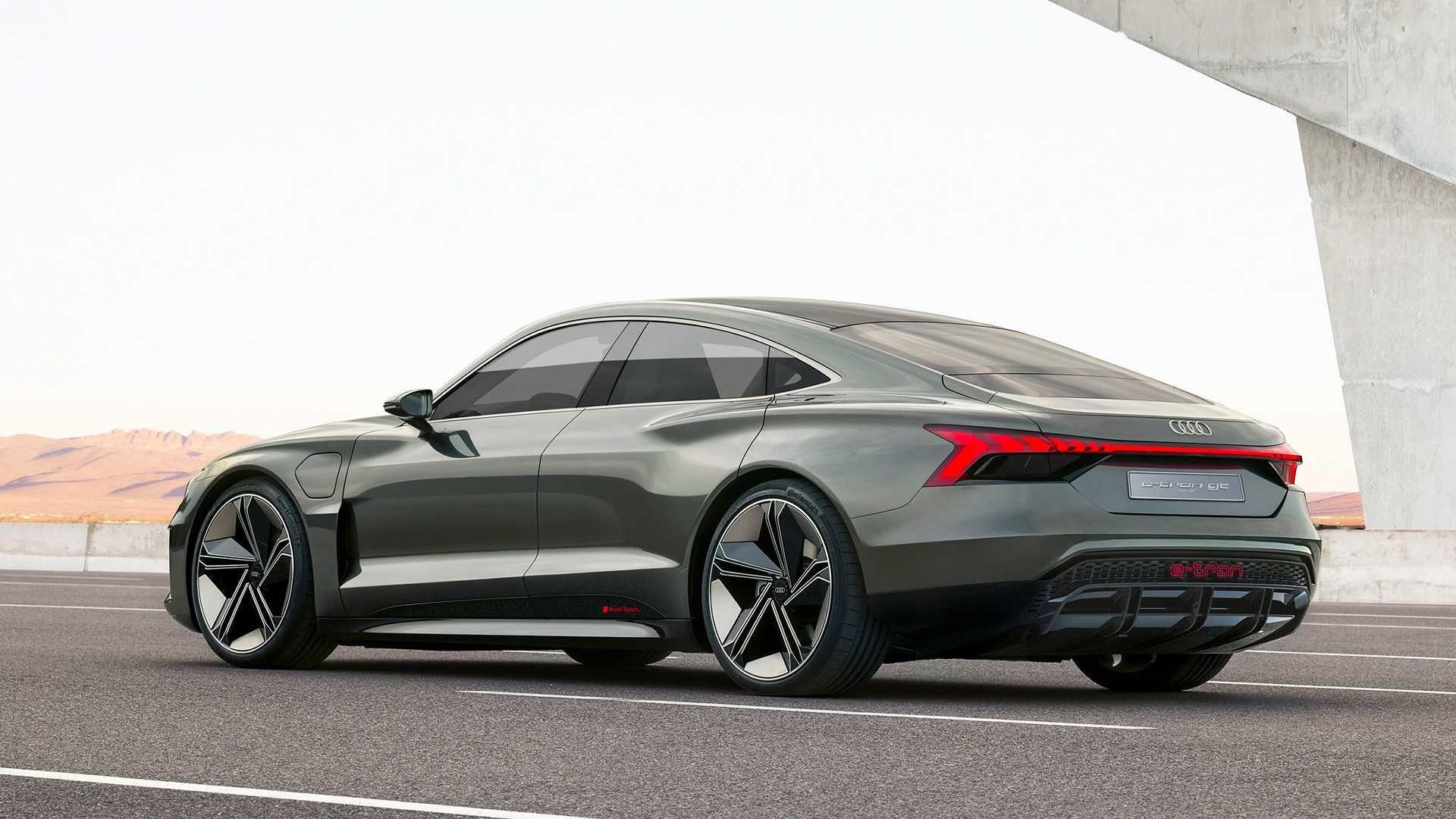 The Audi E Tron Gt Concept Previews Audi S Answer To The Tesla
