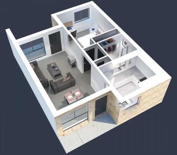 Plans En D DAppartement Avec  Chambres  Student House Dorm