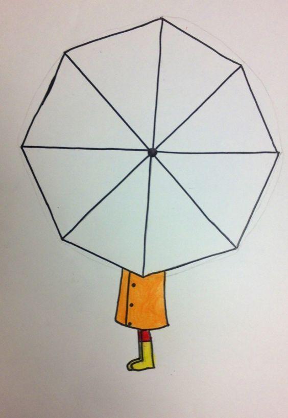 Sınıfımda Yaptırdığım şemsiye Etkinliği Kalıbı Okul öncesi