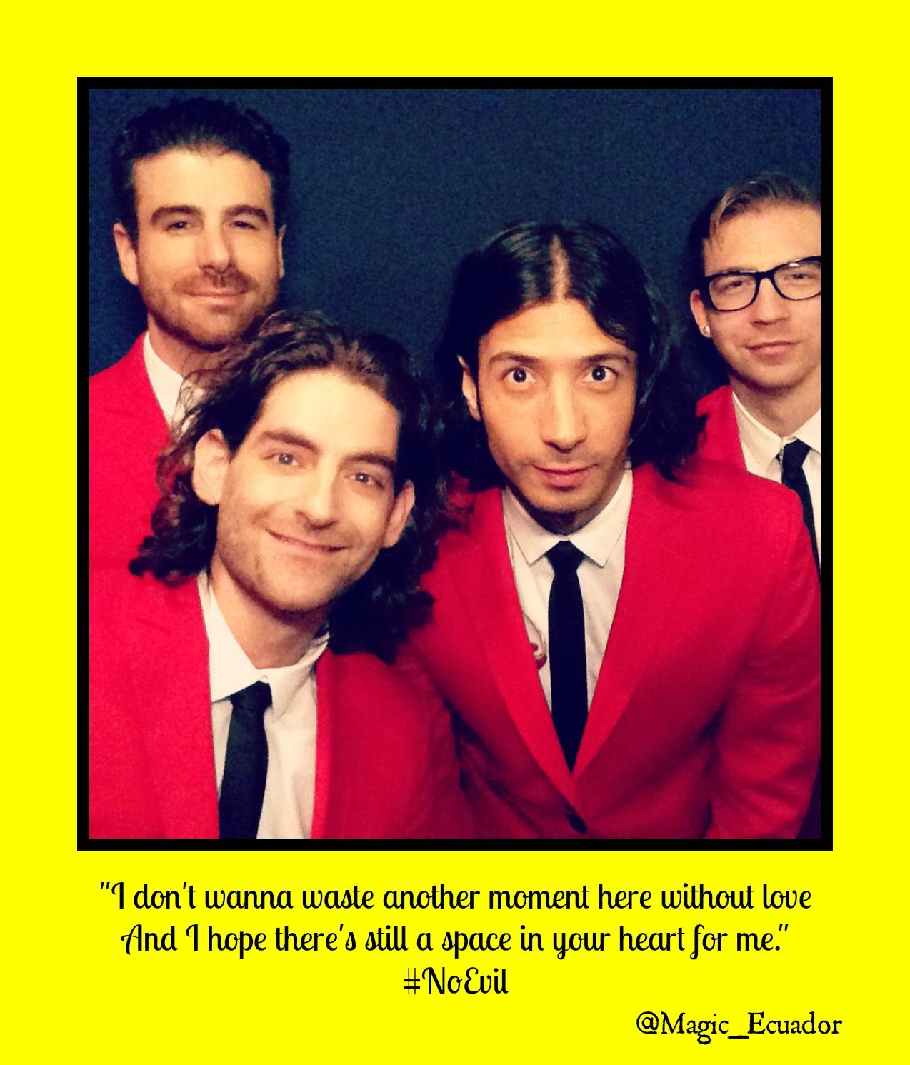 """#NoEvil @ournameismagic """"I don't wanna waste another ..."""