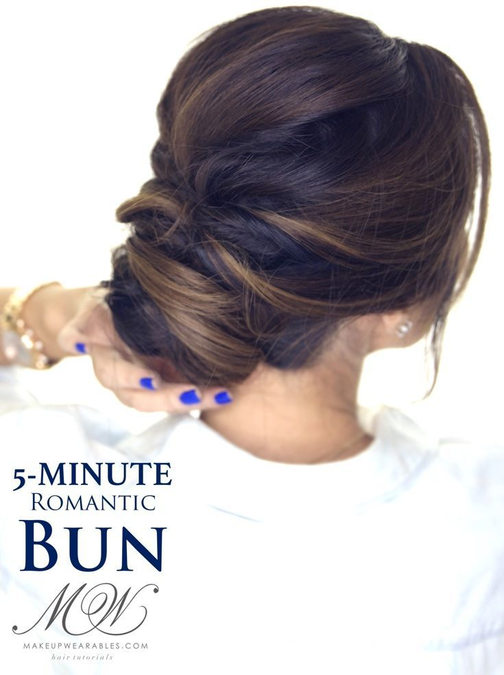 5 minute elegant bun hairstyle click to watch hairstyles quick hair tutorial how to do an easy romantic updo on yourself in just 5 minutes simple elegant bun hairstyles for long medium hair solutioingenieria Choice Image