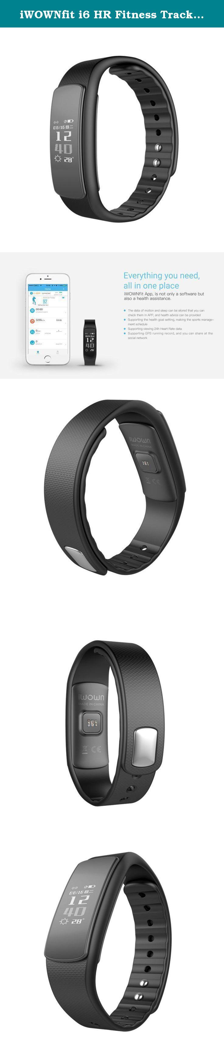Iwownfit I6 Hr Fitness Tracker Heart Rate Monitor Smart Watch Bracelet Sport Smartband For Android Ios Cellphone Fitness Tech Fitness Watch Fitness Technology