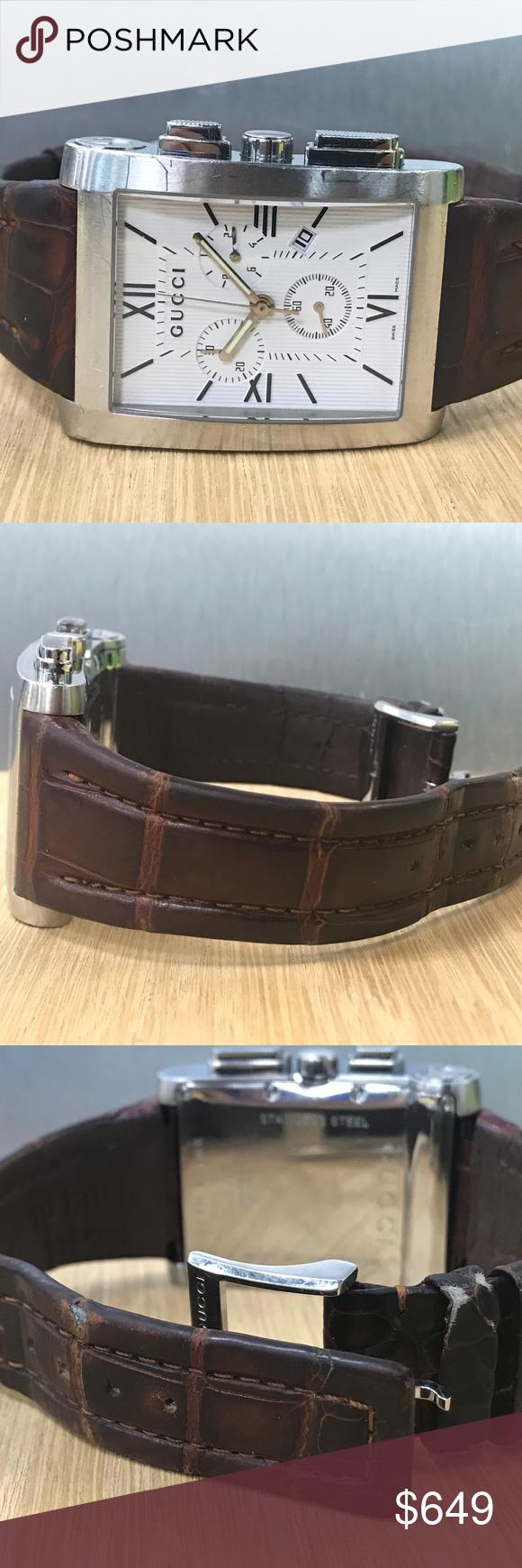 e59768ea163 Gucci 8600 Stainless Steel Quartz Men s Watch