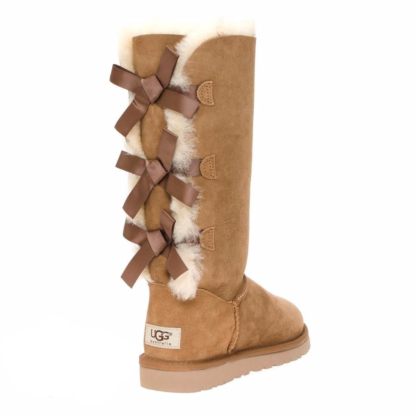 UggsBootsUggs Chestnut Ugg 2019Boot Bow Bailey In Tall Nwy8OvnPm0