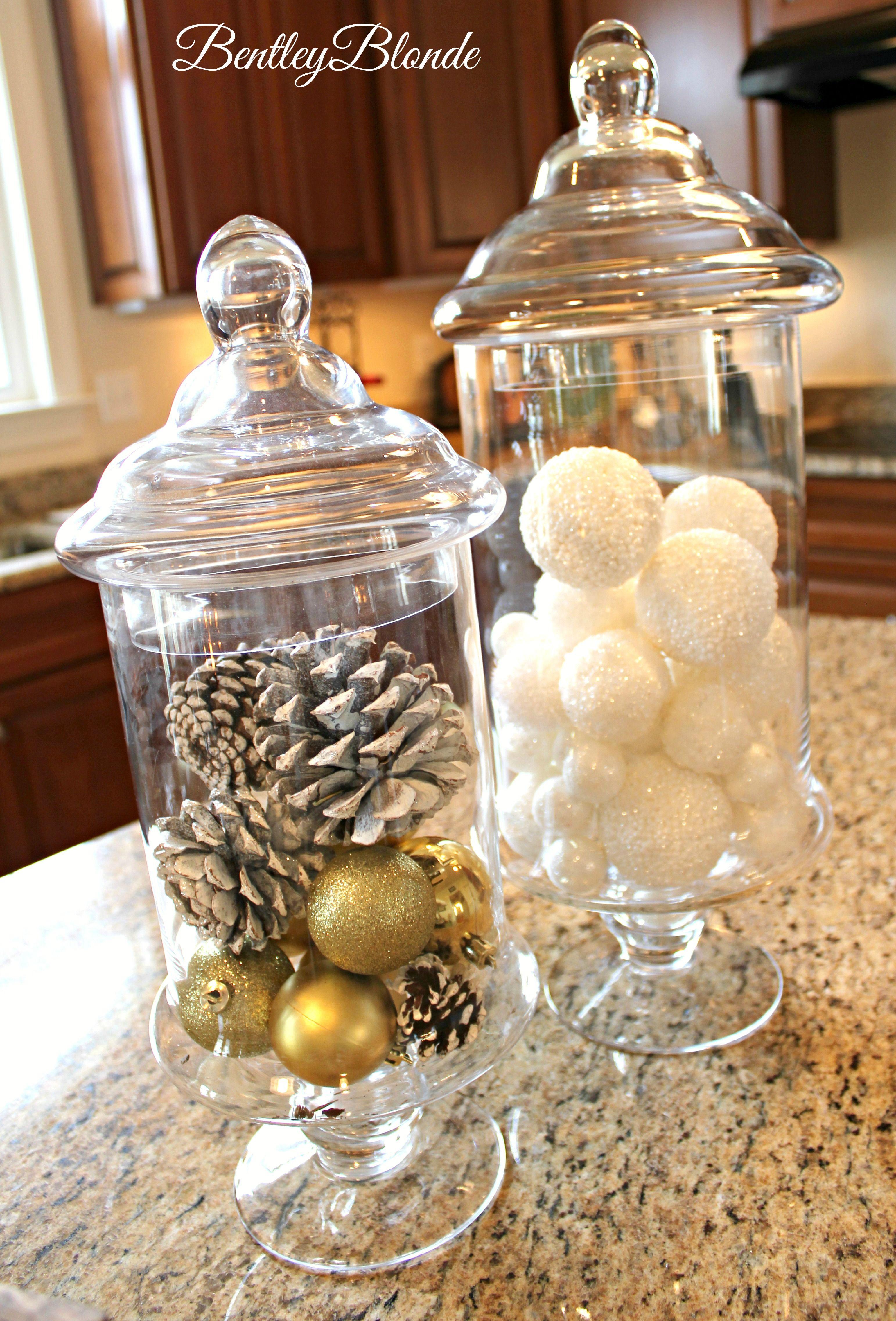 Apothecary Jar Filler For Christmas Bentleyblonde Jar Fillers House Decor Rustic Christmas Jars