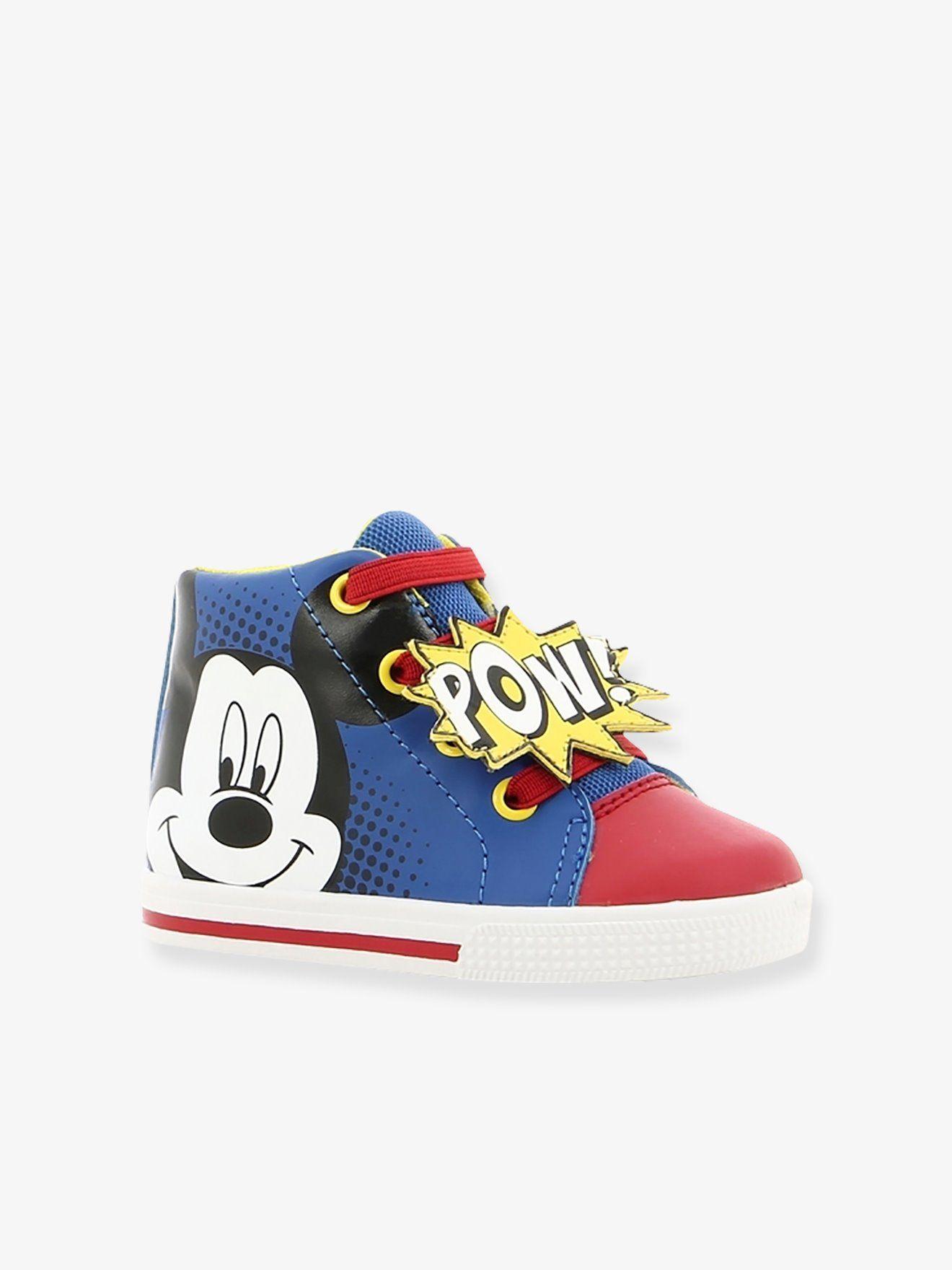 bed766573fee  Baskets hautes  garçon  Mickey® à lacets bleu - Couleur et bonne humeur