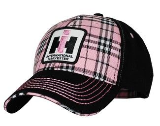 Womens Two Tone Plaid 12ih034 Case Ih International Harvester Farmall Ihc Red Cap Stocking Hat Plaid Hats Pink Plaid Stocking Hat