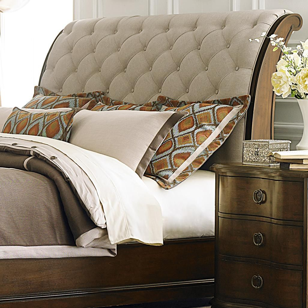 Cotswold King Upholstered Sleigh Headboard By Liberty Furniture