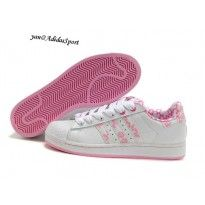 adidas gazelle rose et blanc