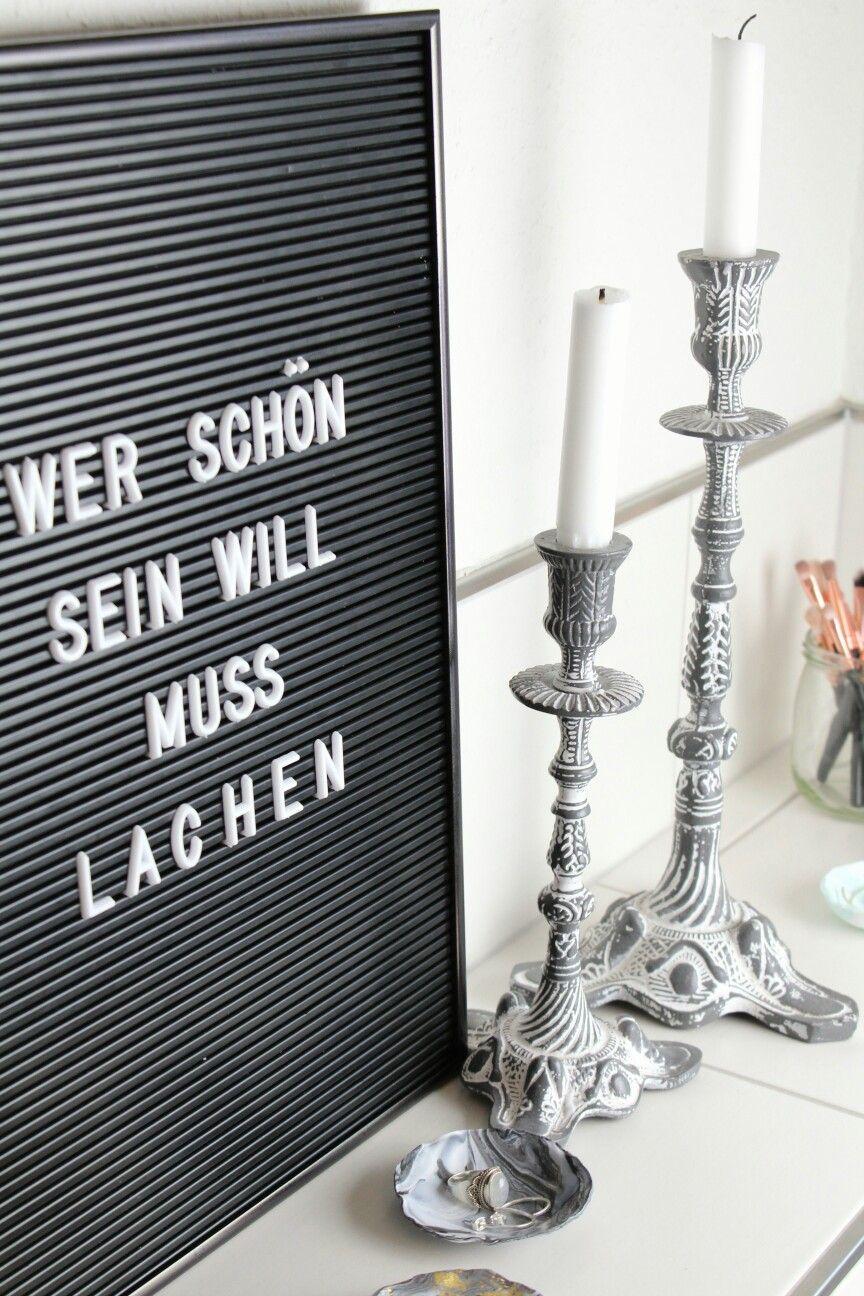 Badezimmer dekor bastelideen wer schön sein will muss lachen  schöner spruch fürs letterboard