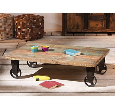 Table Basse A Roulettes Vintage Table Basse Table Basse Roulette Table