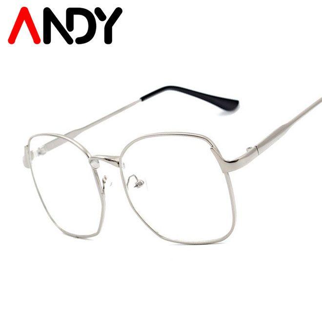 Andy Moda Quadrado De Metal Quadro Simples Oculos De Homens