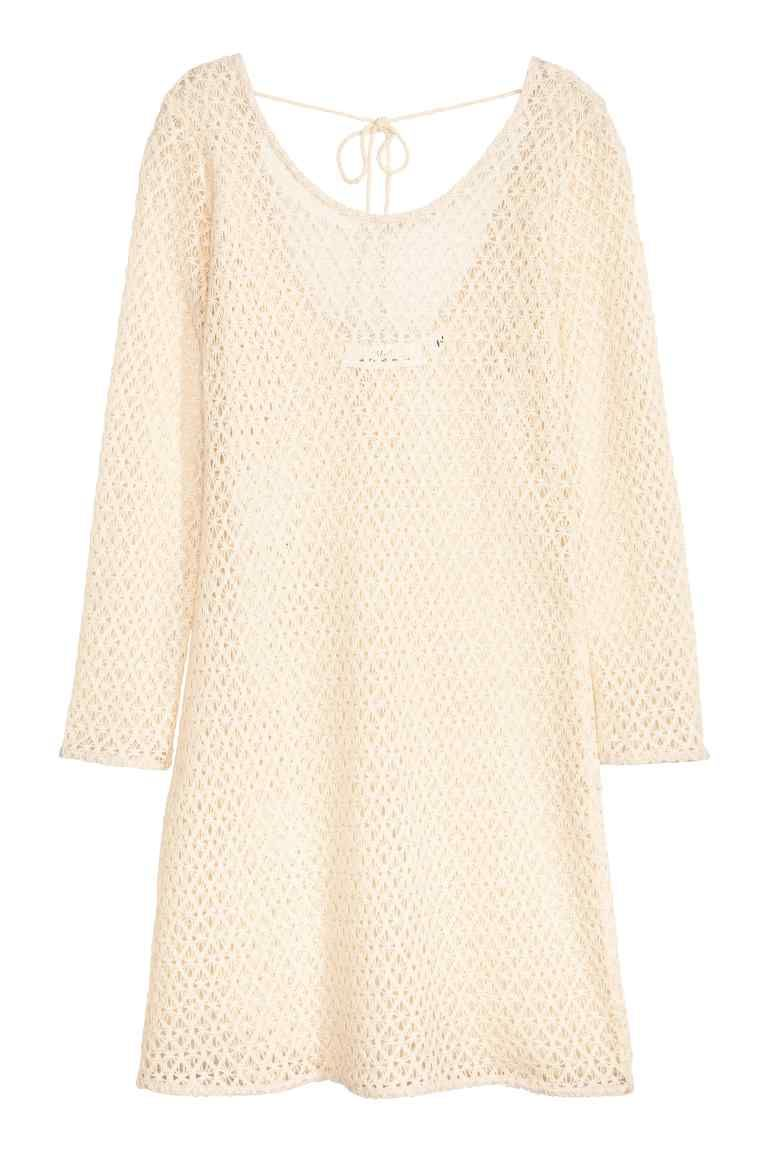 Vestido curto em renda   H&M
