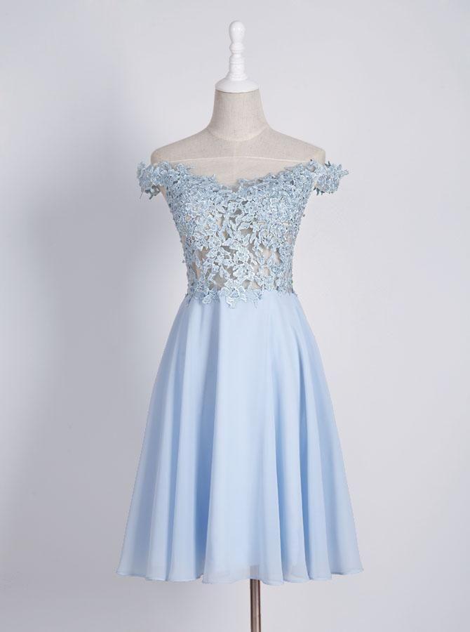 6b9050369fa Light Blue Homecoming Dresses