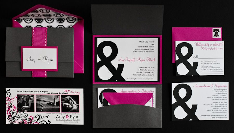 Black And Pink Wedding Invitations The Specialiststhe Specialists