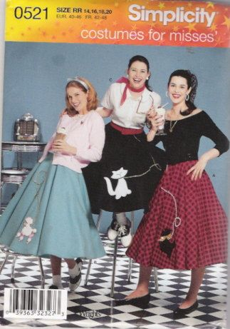 Poodle Skirt Pattern I Wanna Do This For Halloween Year