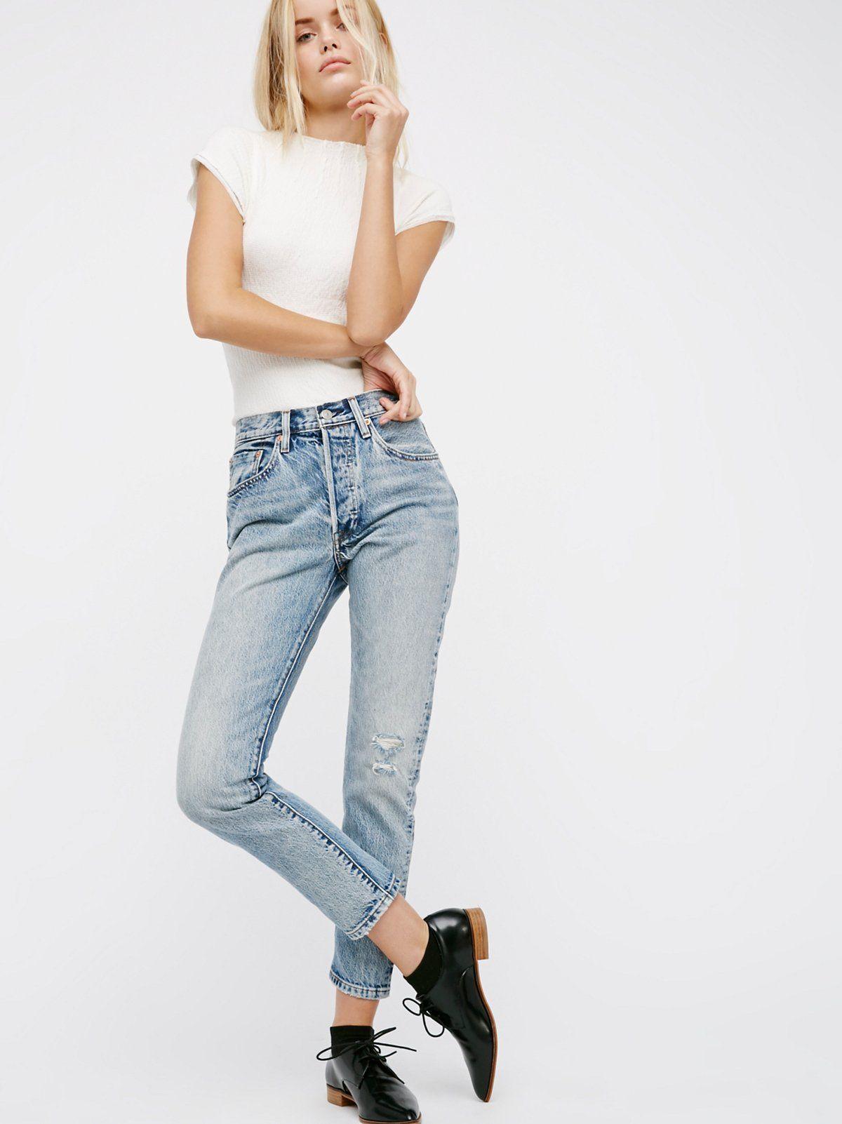 Levi's 501 Skinny Jeans Fashion, Outfits, Mom jeans