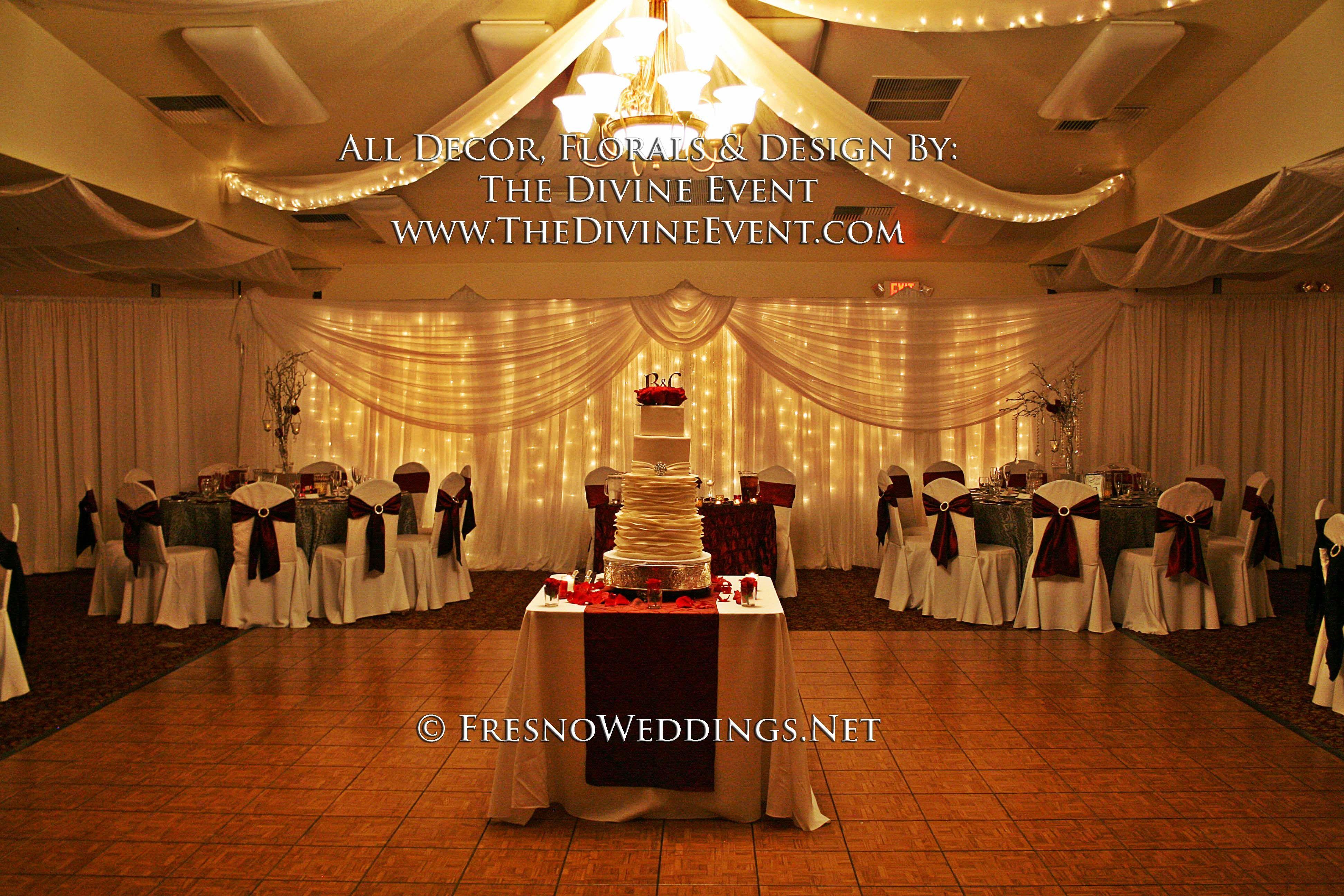 Wedding reception decoration ideas with lights  Central California Weddings  CentralValleyWedding