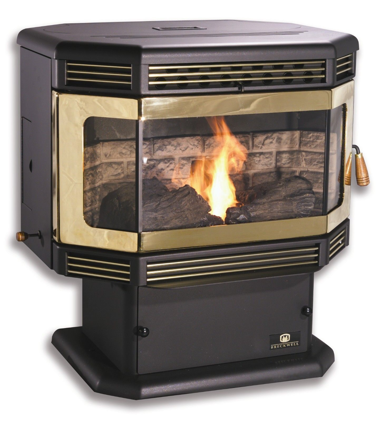 Sp2000pd Breckwell Free Standing Pellet Stove Pellet Stove Stove Hearth
