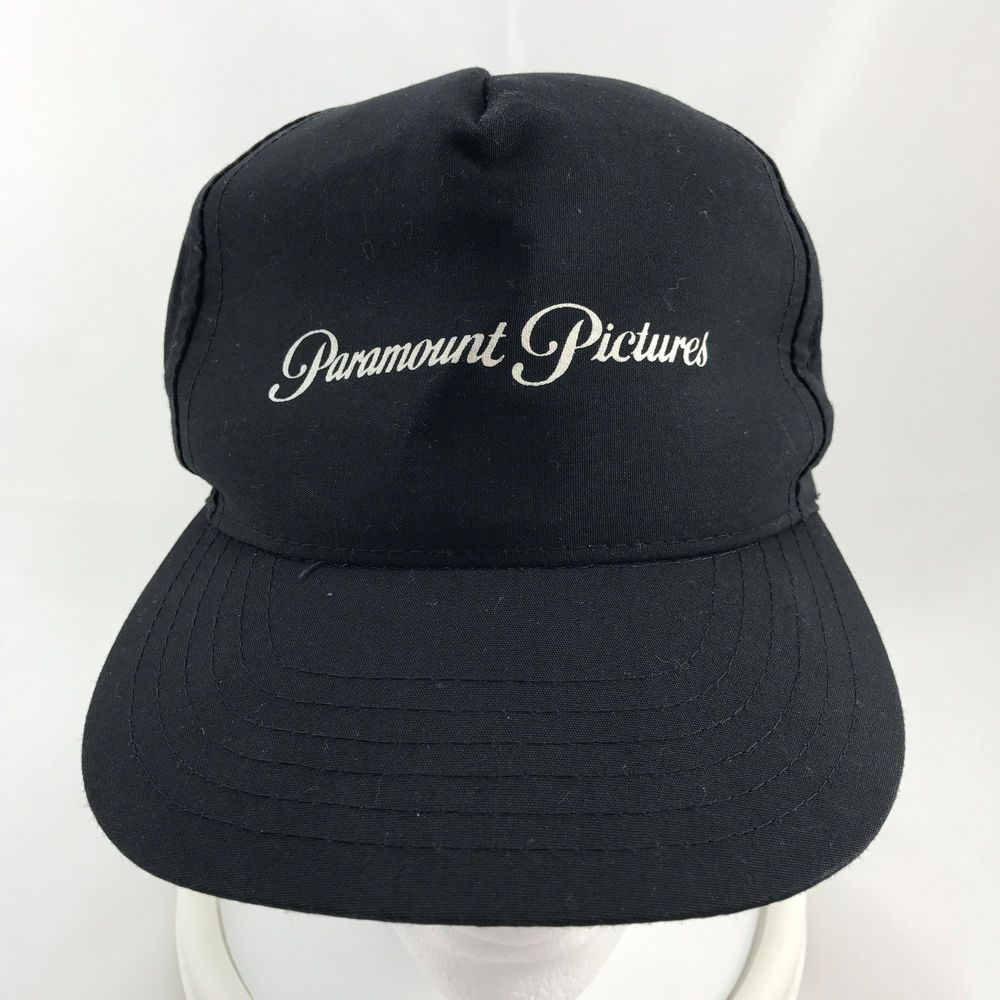 682381364fb03 Paramount Pictures Black 5 Panel Snapback Cap Hat Adjustable Made USA  #Universal #BaseballCap #ad