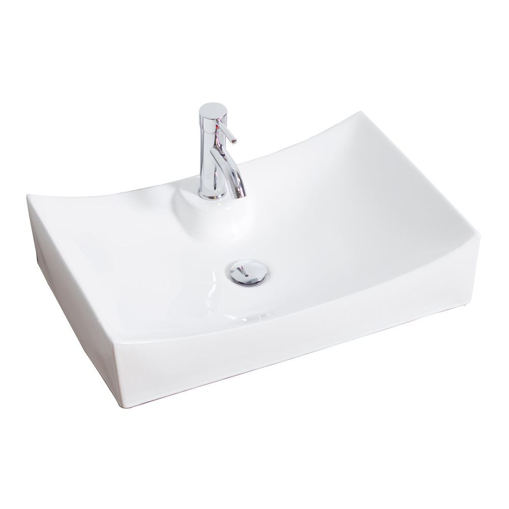 American Imagination AI 226 Above Counter Rectangle White Ceramic Vessel  Sink | ATG Stores