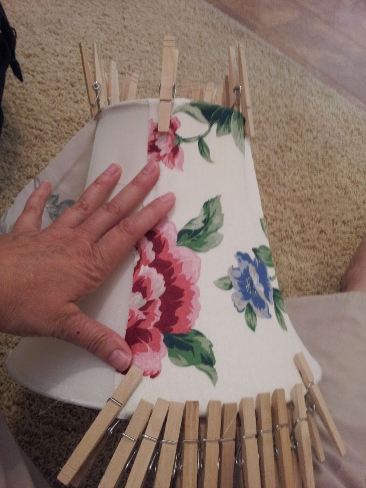 Junk 2 Jewels - DiY!: NO Sew Lamp shade recover tutorial | I LOVE ...