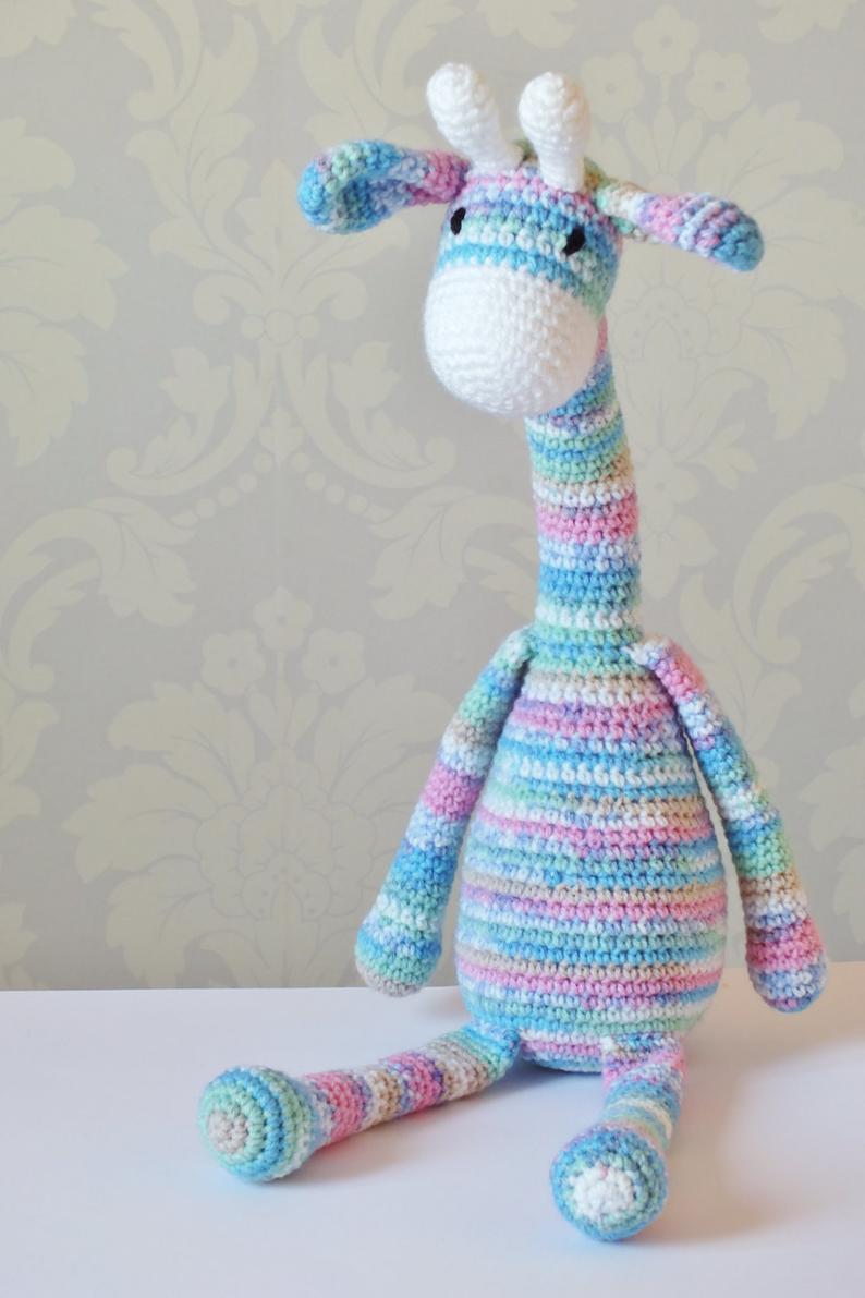 Crochet Giraffe Amigurumi Pattern PATTERN ONLY PDF Download Children Cute Toy Giraffe Gift crochet pattern Baby #crochetgiraffepattern