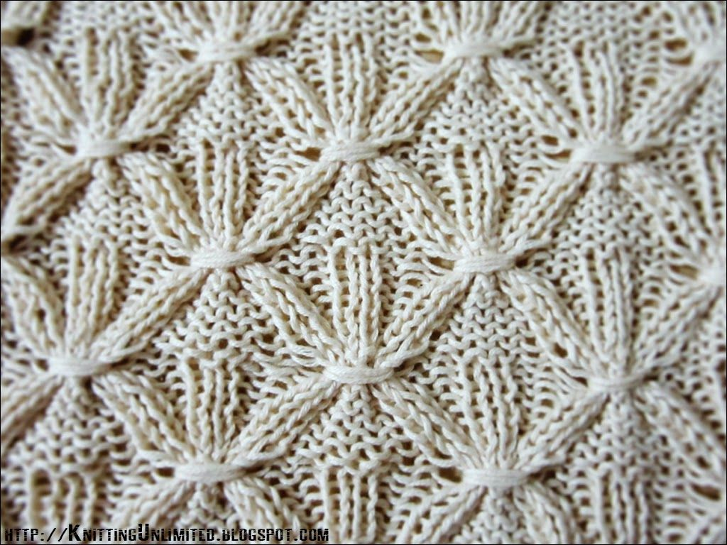 Knit-Purl Combinations: Pattern 7 - Smocking Stitch - This site is ...