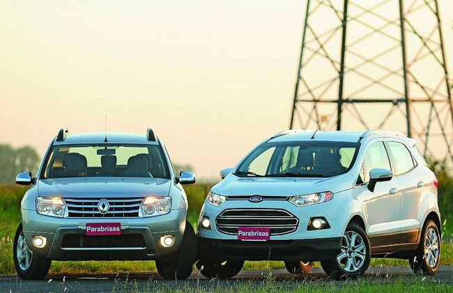 Ford Ecosport Against The Renault Duster Who Is The Winner Ford Ecosport Renault Duster Renault