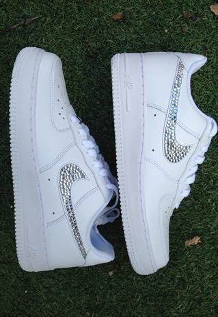 Bling Customised Crystal Nike Air Force One Sizes 3 - 5.5 from CrystalMess c4f30ae08