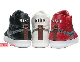 uk availability e81c2 25d3f Supreme X Nike Blazers...with a touch of
