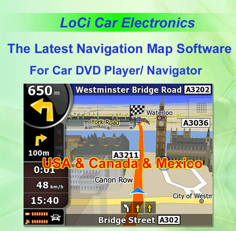 Igo 8 Canada Map Pin on Car gps Navigation Map