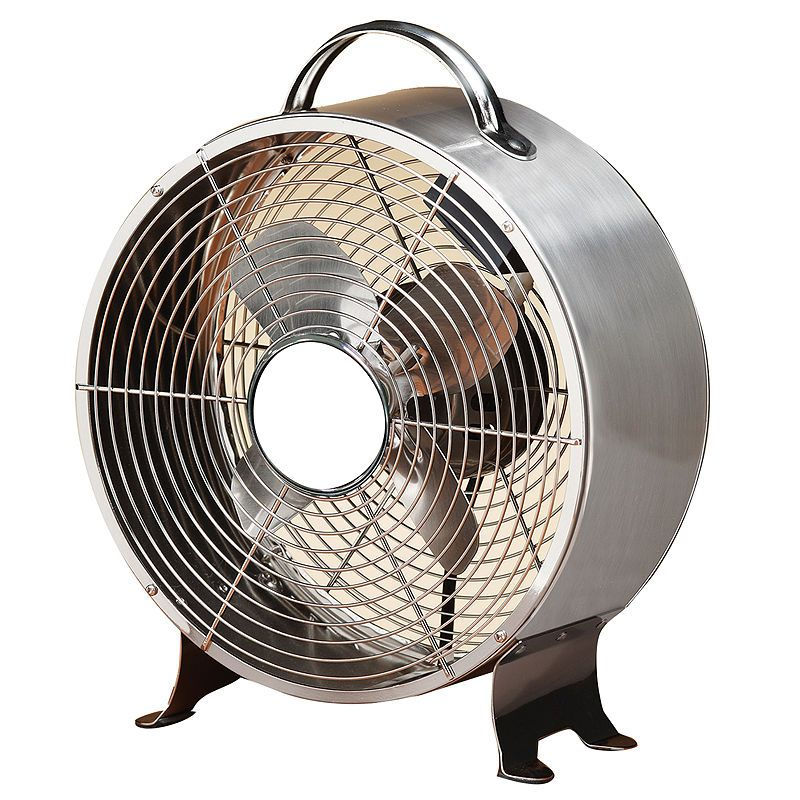 Deco Breeze Stainless Steel Retro Metal Fan Retro Fan Metal Fan