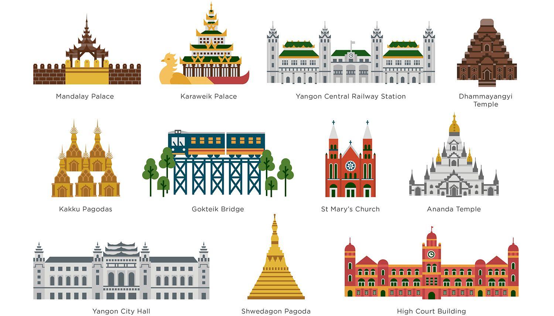 Myanmar Map For Samsung On Behance Myanmar Art Myanmar Travel Myanmar