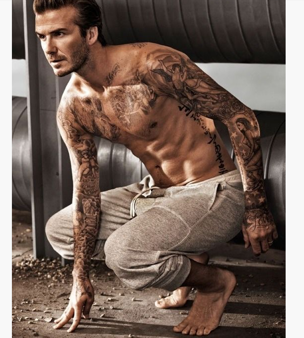 David beckham sleeve and arm tattoos long hairstyles for David beckham arm tattoo