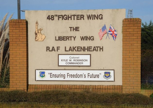 RAF Lakenheath, Cambridgeshire, England was the 48th