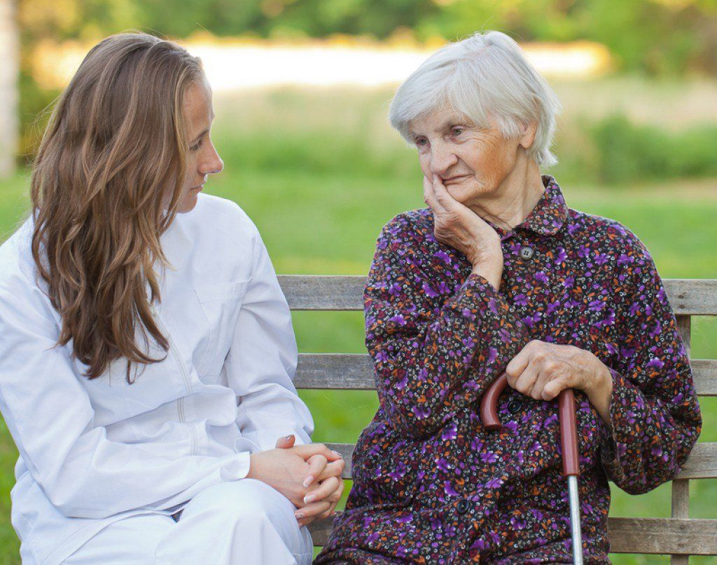 When caring for a person with dementia, patience and a positive attitude are imperative. Educate yourself on the disease.  Use clear words and a simple touch to communicate.