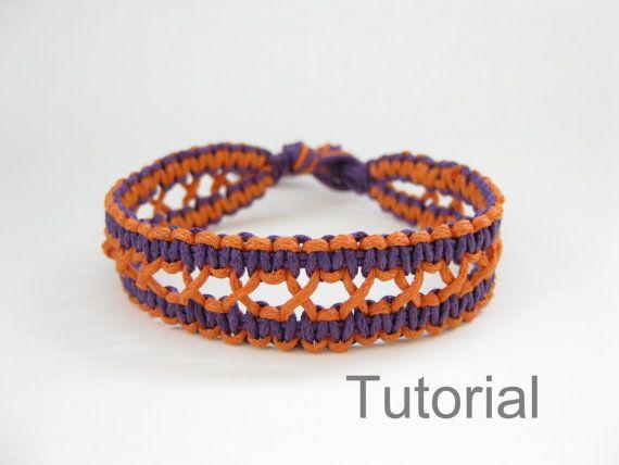 instructions motif de bracelet nou macram tutoriel pdf bijoux violet orange comment diy de. Black Bedroom Furniture Sets. Home Design Ideas